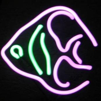 Angel Fish Neon Light Sign Sculpture