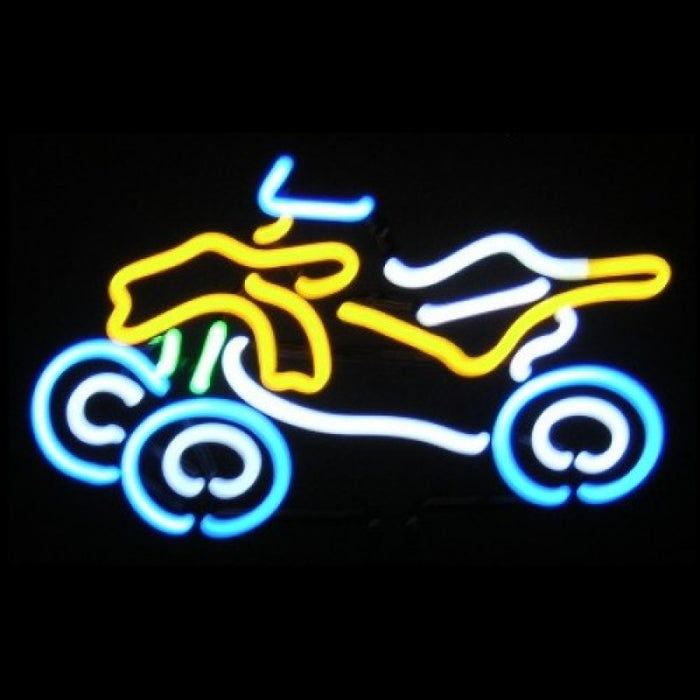 ATV Neon Light Sign Sculpture