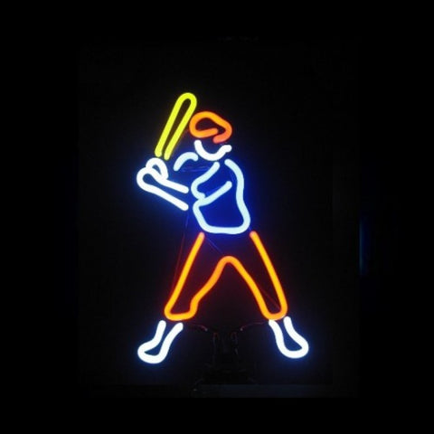 Baseball Player Neon Light Sign Sculpture - Neon Sculptures