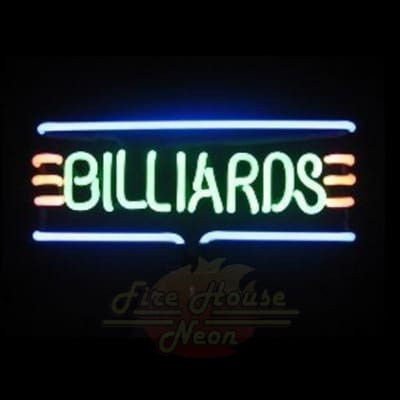 Billards Neon Light Sign Sculpture - Neon Sculptures