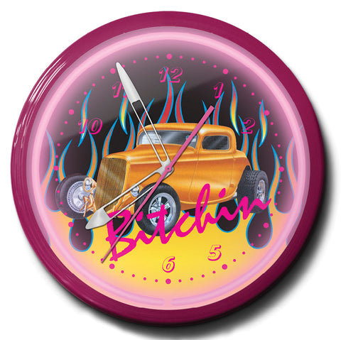 Bitchin Hot Rod Neon Clock