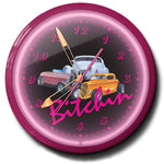 Bitchin Three Hot Rods Neon Clock
