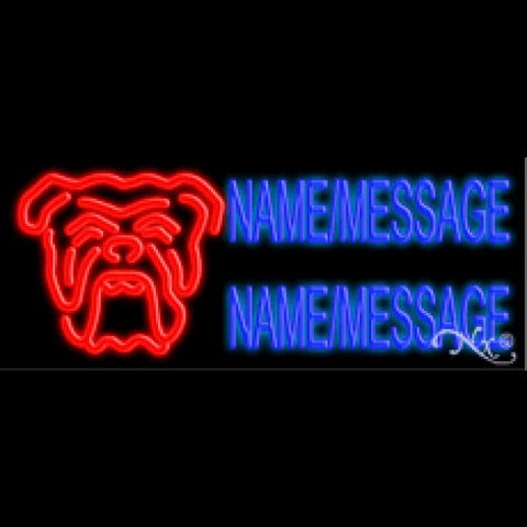 Bulldog Custom Neon Sign - Custom Neon Sign