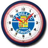 Cadillac Authorized Service Neon Clock