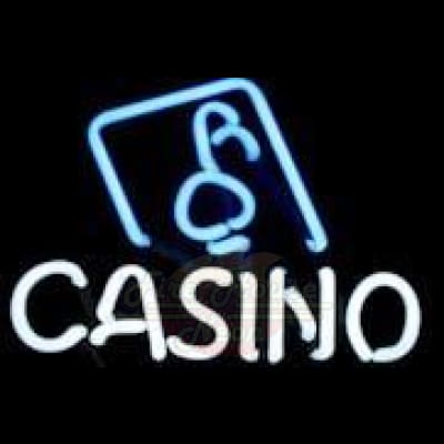 Casino Neon Light Sign Sculpture - Neon Sculptures