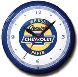 We Use Genuine Chevrolet Parts (Bowtie) Neon Clock