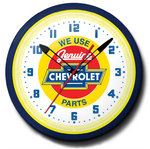 We Use Genuine Chevrolet Parts (Red) Neon Clock