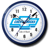 Chevy Trucks Like A Rock Neon Clock
