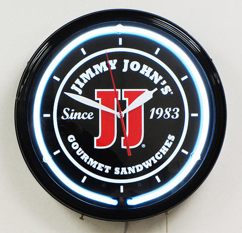 Custom Neon Clock Jimmy Johns