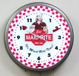 Custom Neon Clock Maid rite