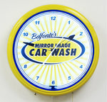 Custom Neon Clock Car Wash