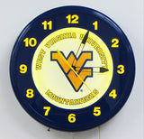 Cust6om Neon Clock West Virginia University