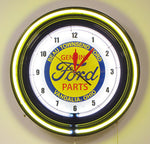 Custom Neon Clock 24 Inch Ford