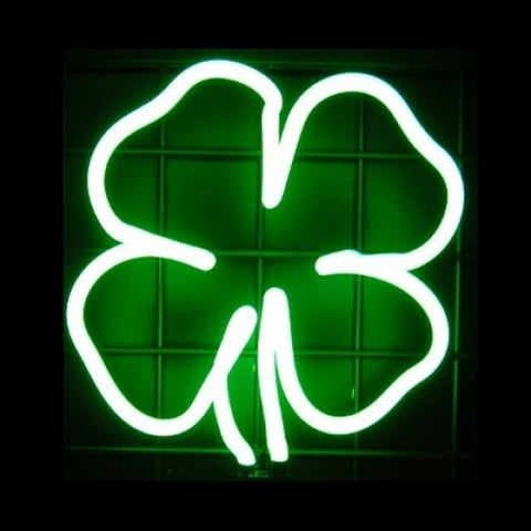 Lucky Four Leaf Clover Neon Light Sign Sculpture
