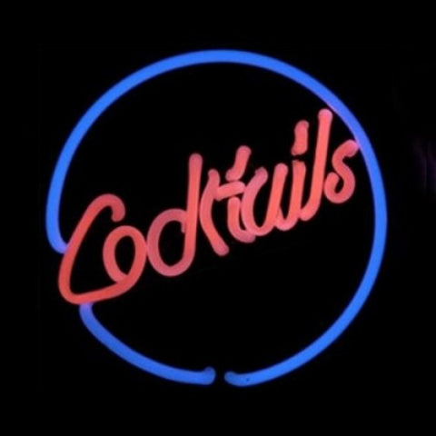 Cocktails Neon Light Sign Sculpture