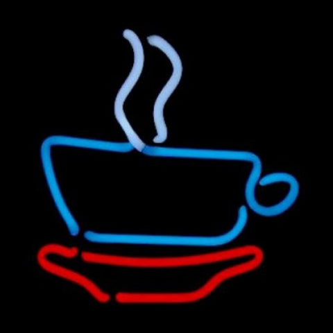 Coffee Cup Neon Light Sign Sculpture