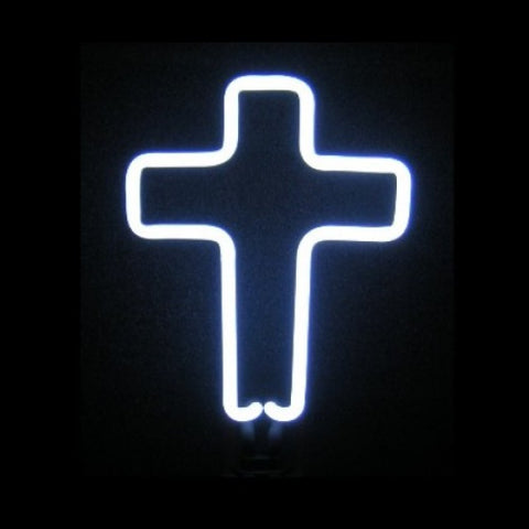 Cross Neon Light Sculpture