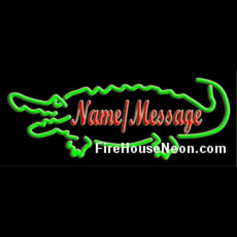 Custom Neon Sign with Alligator - Custom Neon Sign