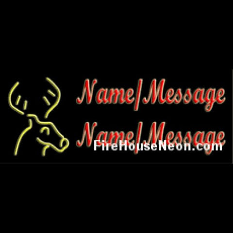 Custom Neon Sign with Deer - Custom Neon Sign