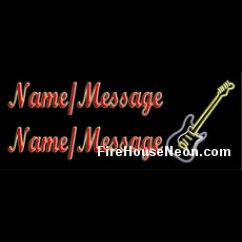Custom Neon Sign with Guitar - Custom Neon Sign