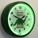 Dino Gasoline Neon Clock Side View