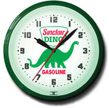Dino Sinclair Gasoline Neon Clock
