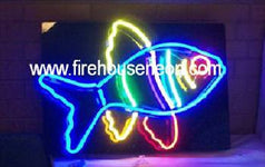 Colorful Aquarium Tropical Fish Neon Sign  - Pet Store