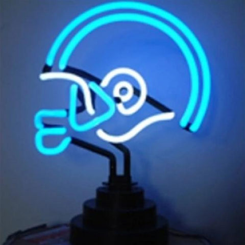 Football Helmet Neon Light Sign Sculpture