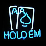 Texas Hold Em Poker Neon Light Sign Sculpture