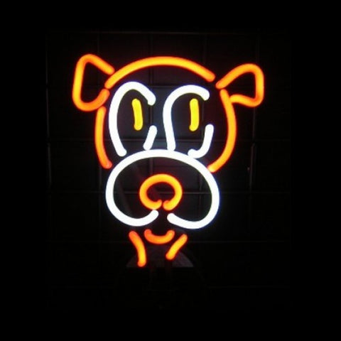 Hooter Dog Head Neon Light Sign Sculpture - Neon Sculptures