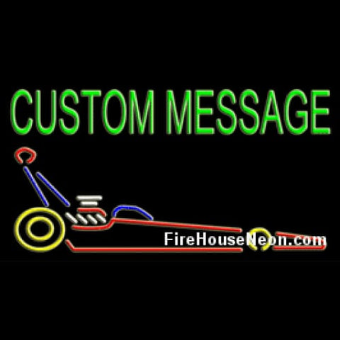 Large Custom Neon Sign with Dragster - Custom Neon Sign