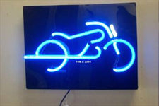 Motorcycle neon sign for garage