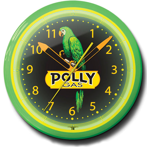 Polly Gasoline Neon Clock