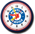Pontiac Authorized Service Neon Clock