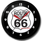 Get Your Kicks on Route 66 Neon Clock
