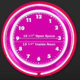 Custom Neon Clock 24 Inch Specifications