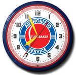 Studebaker Authorized Service Neon Clock