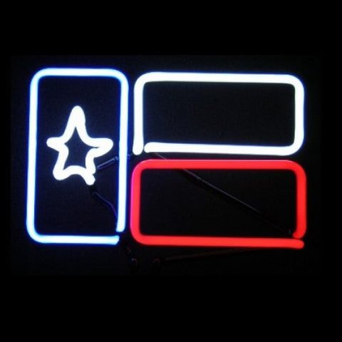 Texas Flag Neon Light Sign Sculpture