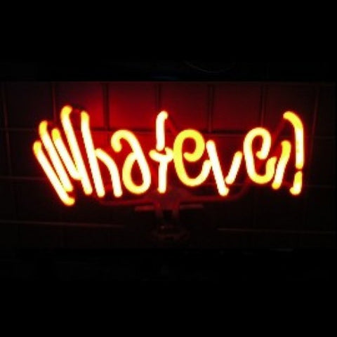 Whatever Neon Light Sign Sculpture