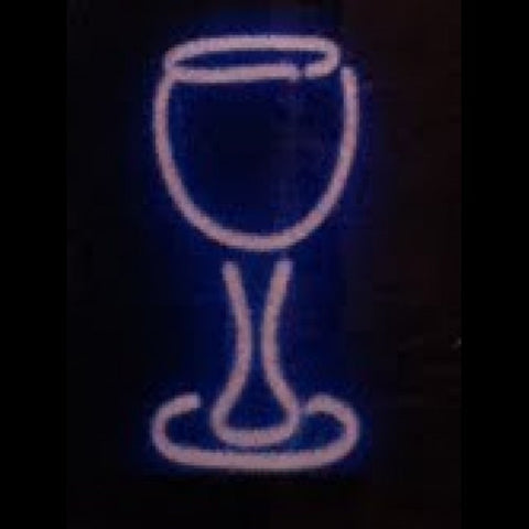 Wine Glass Neon Light Sign Sculpture