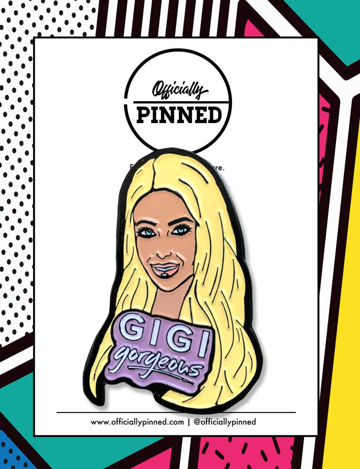 Gigi Gorgeous Portrait Pin