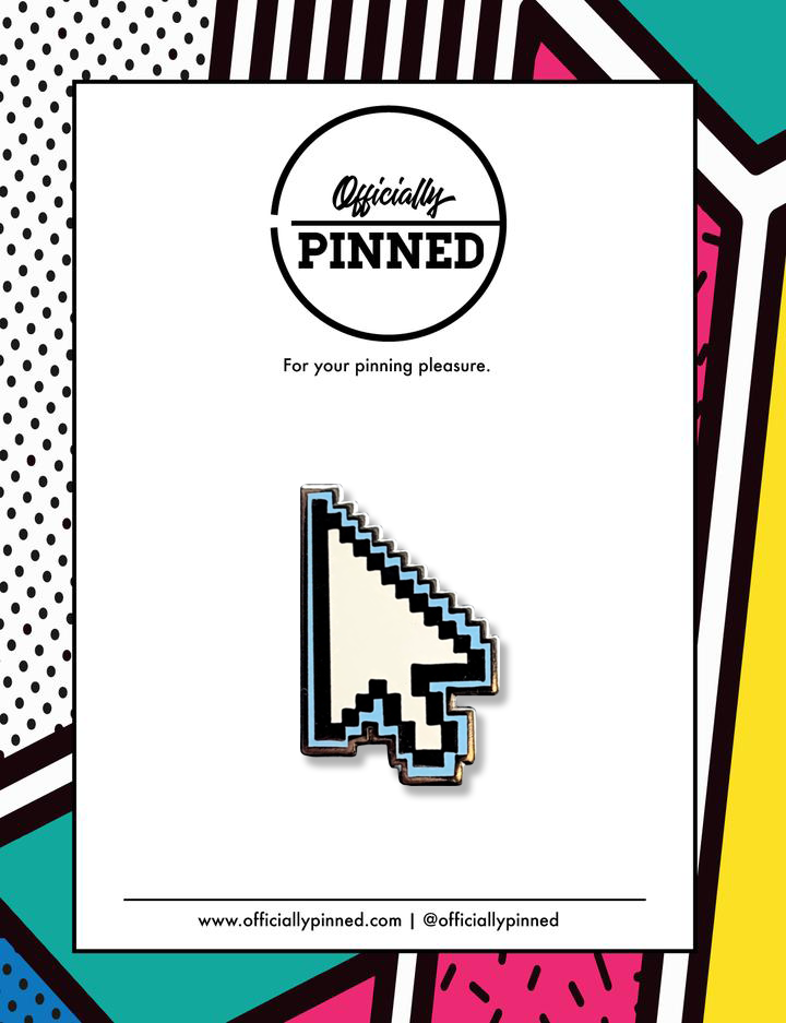Blue Cursor Pin by jennxpenn