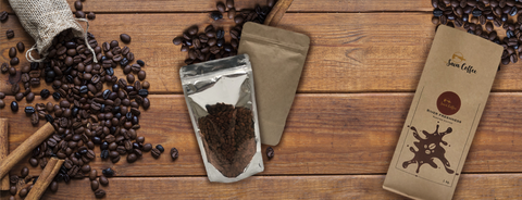 Coffee packaging pouches are used to promote and keep longer time with valve option