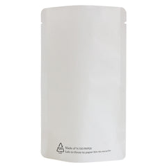 White Paper Recyclable Stand Up Pouch With Barrier