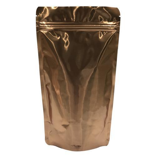 Gold Foil Stand Up Pouch With Zipper / DISCOUNT % 20