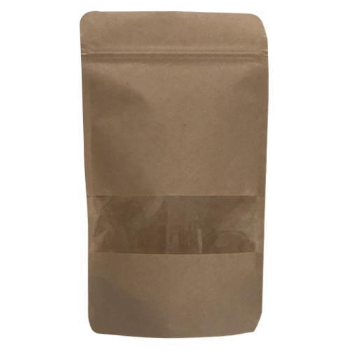 Kraft Window Stand Up Pouch With Zipper