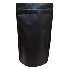 Matt Black Foil Stand Up Pouch With Zipper