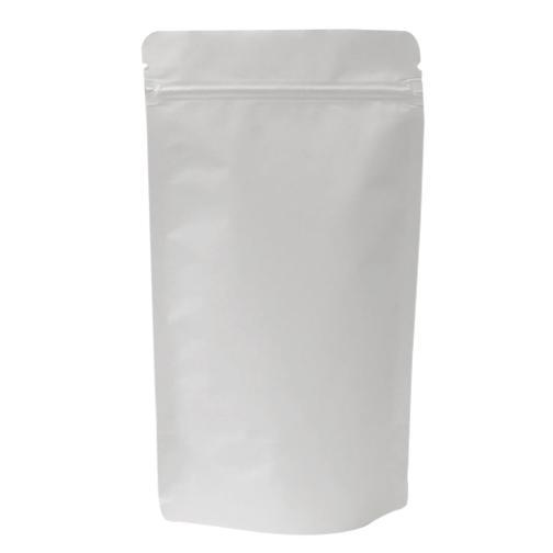 White Kraft Aluminium Stand Up Pouch With Zipper