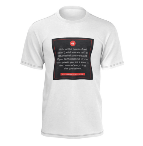 Michaelson Williams Success Quote Men's Tee Front
