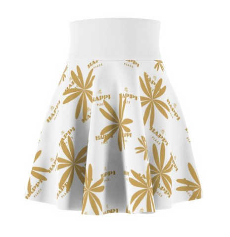 Gold flowered white My Happi Place skirt